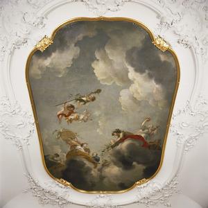 Bachus en Ceres op de wolken