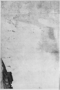 Bovenhoek van een gebouw met kapiteel