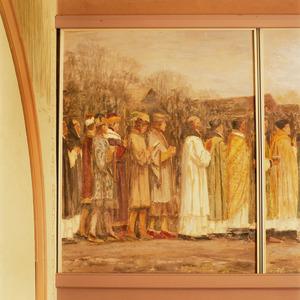 Processie met de relikwieën van Sint Walfridus / Deel van de stoet