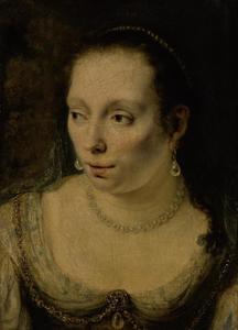 Portret van een vrouw, mogelijk Johanna de Geer (1627-1691)