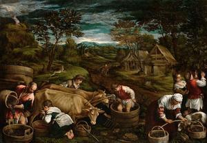 Herfst (Mozes ontvangt de Tien Geboden)