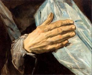 Studie van een hand een van de officieren van Sint-Jorisdoelen