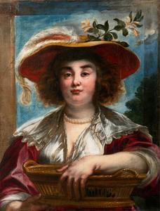Portret van Elisabeth Jordaens (1617-1678)