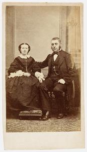 Portrert van Thomas Johannes van Outeren (1823-1881) en Emmerentia Christina Reepmaker (1827-1874)