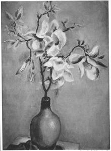 Bloeiende tak van een magnolia
