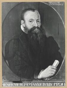 Portret van Henricus Schotanus (1548-1605)