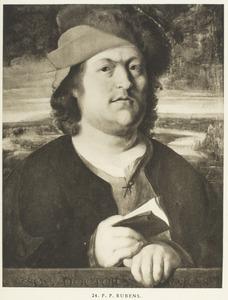 Portret van een man voor een landschap, zogenaamd de arts Paracelcus (1493-1541)