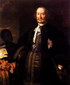 Portret van Johan Maurits van Nassau-Siegen (1604-1679), met een bediende