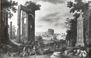 Zuidelijk landschap met Romeinse motieven