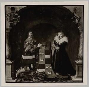 Portret van Jacob van Wassenaer (1592-1658) en Jacqueline van Mathenes (...-1626)