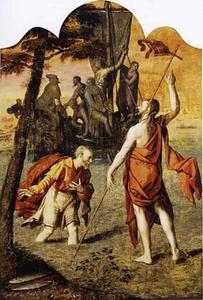 Christus loopt over het water