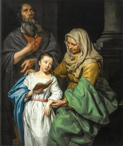 De opvoeding van Maria, met mogelijk een zelfportret