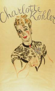 Portret van Charlotte Köhler (1892-1977)