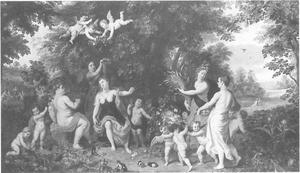 Landschap met Venus, Bacchus en Ceres
