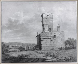 De ruïne van de toegangspoort tot de Villa Hadriana bij Tivoli