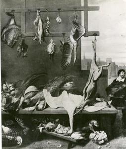 Wildhandelaar op de markt in Antwerpen
