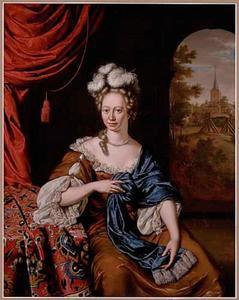 Portret van een vrouw in een interieur