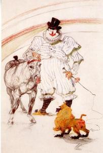 Getrainde pony en baviaan: deel van een serie 'Au cirque'