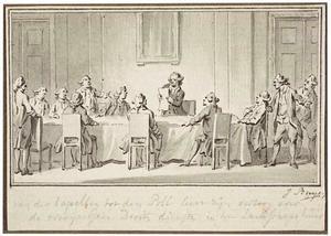 Johan Derk van der Capellen tot de Poll (1741-1784) houdt een lezing over de Overijsselse Drostendiensten