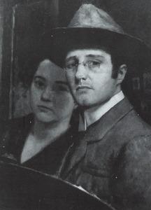 Zelfportret van de schilder met zijn echtgenote Thèrese Ansingh