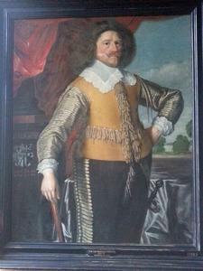 Portret van Falk Gøye Henriksen til Hvidkilde (1602-1653)