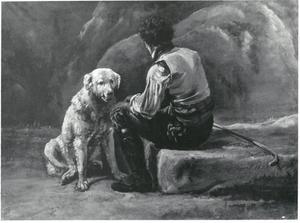 Italiaanse herder met hond