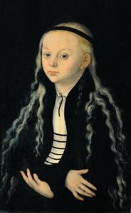 Portret van een meisje, vermoedelijk Magdalena Luther (1529-1542)