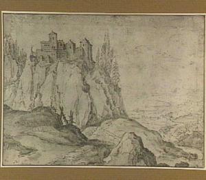 Rotslandschap met kasteel