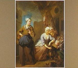 Marktscène met twee vrouwen