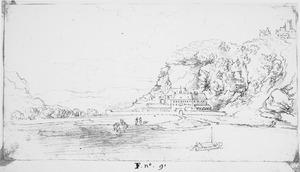 Rijnvallei met klooster