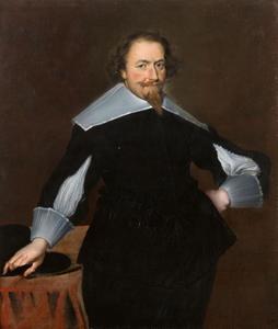 Portret van een man met witte kraag