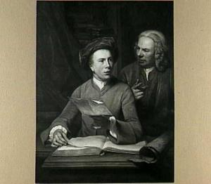 Zelfportret, met Jan Maurits Quinkhard (1688-1772)