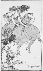 """Balletpas uit de """"Lustige Blätter"""""""