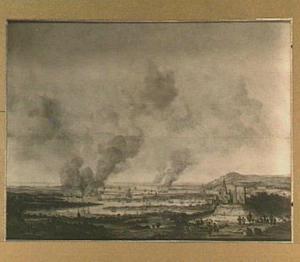 Het verbranden van de Engelse vloot bij Chatham, 23 juni 1667