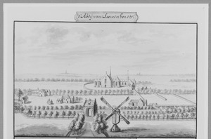 De abdij Leeuwenhorst bij Noordwijkerhout, gezien vanuit het westen