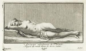 Ariadne door Theseus verlaten (pl. XL)