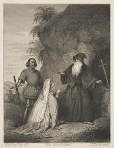 Agnes van der Sluis en Witte van Haemstede bij de priester, 1280