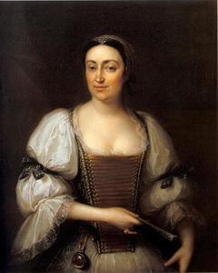 Portret van Judit Osztroluczky de Osztroluka (1690–1766), vrouw van János Podmaniczky
