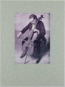 Portret van de cellist Marix Loevensohn
