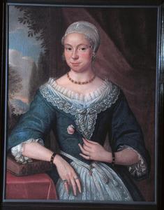 Portret van Maria de Veer (1681-1759), tweede echtgenote van Meynard Merens (1685-1757)