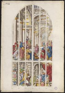 De twaalfjarige Jezus in de tempel (naar raam/carton 13)