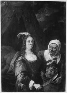 Judith stopt  het hoofd van Holofernes in de zak van haar dienstmaagd  (Judith 13:9-10)