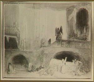 Derde bedrijf van de opera Geusto en Ginevra, opgevoerd te Parijs