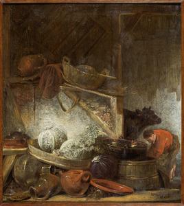 Boerderijstilleven met kolen