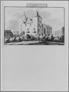 Voor- en rechterzijde van het kasteel van Heusden
