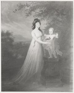 Portret van Johanna Catharina van Westreenen (1776-1862) en haar zoon, waarschijnlijk Reinout Carel (1798-1882)