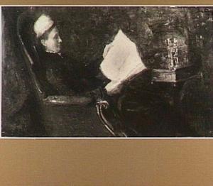 Portret van de moeder van Annie Toorop-Hall, Mrs. Hall