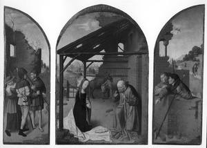 Drieluik met de geboorte (midden) en herders (links en rechts)