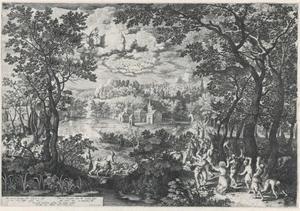 Landschap met de steniging van de heilige Stefanus (Handelingen 7, 54-60)