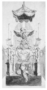 Ontwerp voor de katafalk van aartshertogin Maria Elisabeth